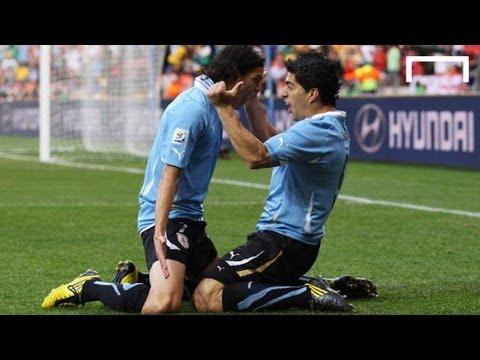 Cavani socres Suarez assist - Uruguay