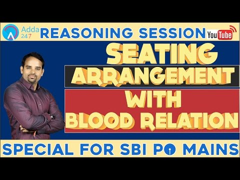 Seating Arrangement With Blood Relation (Online Coaching for SBI PO Mains)