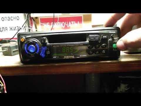 НАЗАД В ПРОШЛОЕ№93-2- кассетная автомагнитола Samsung SC-6400B-проба работы(кассета)