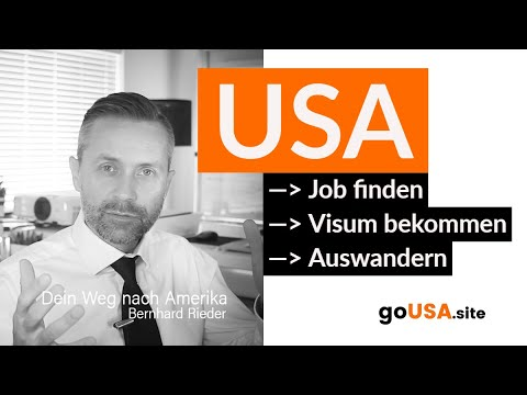 Auswandern Usa Us Job Finden Bewerbung Resume Visum Bekommen