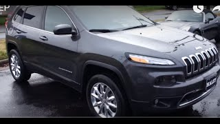 2015 Jeep Cherokee Limited V6 Walkaround, Start up, Tour and Overview