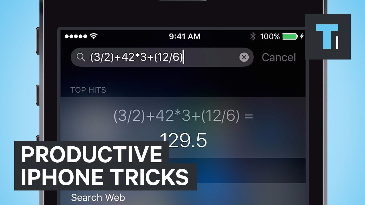 Productive iPhone tricks