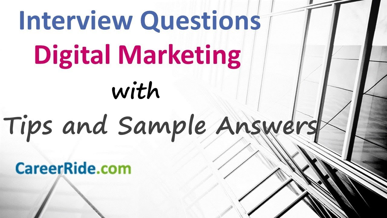 40 Marketing interview questions and answers