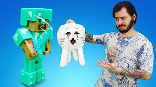 Стив Майнкрафт и мобы в обзоре игры Minecraft! Видео шоу .