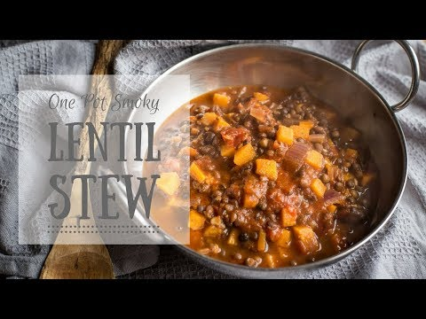 Smoky Vegan Lentil Stew - One Pan Vegetarian Campervan & Camping Recipes