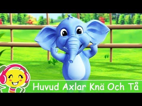 Cantec nou: Huvud Axlar Kn Och T + karaoke | BarnMusikTV