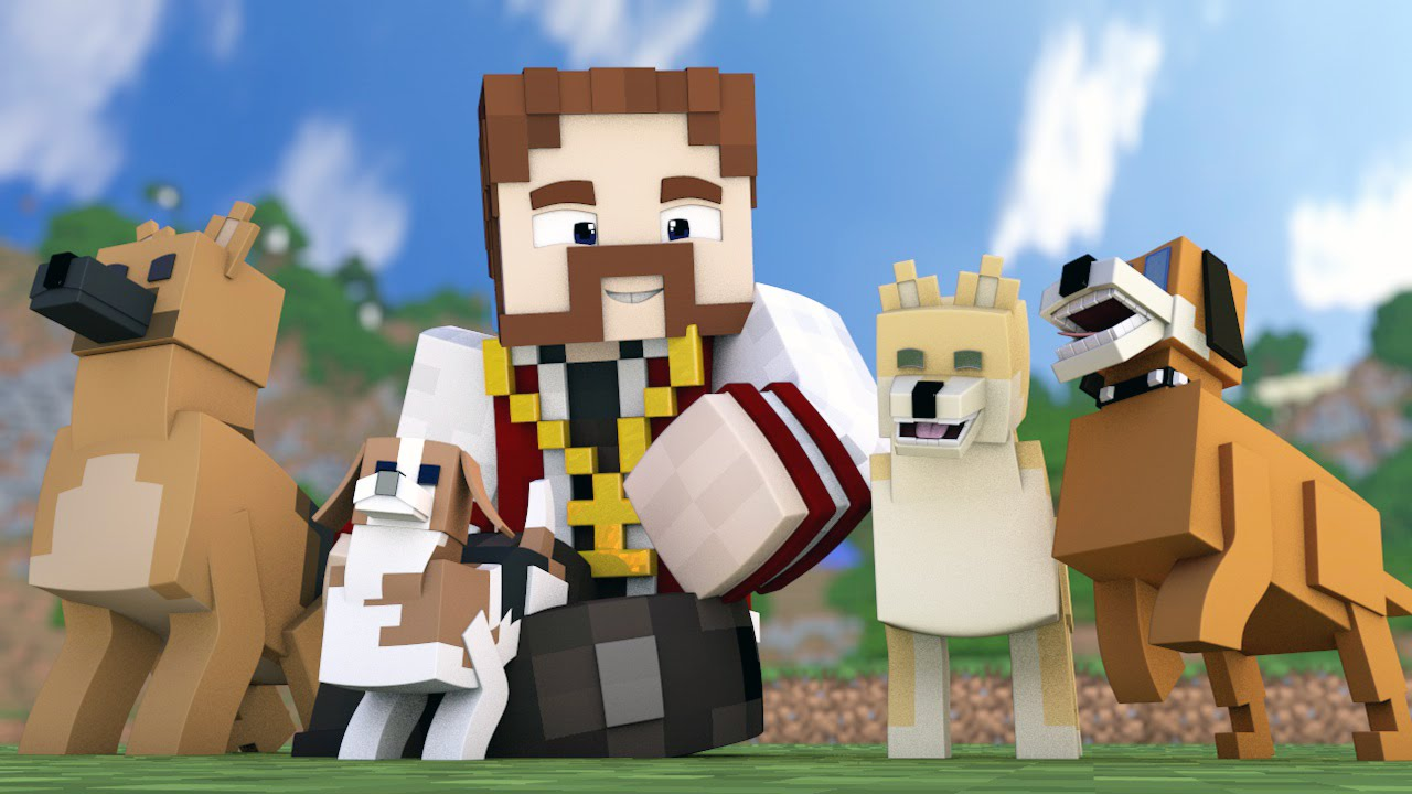 image Minecraft porn doggy style and standing missionary