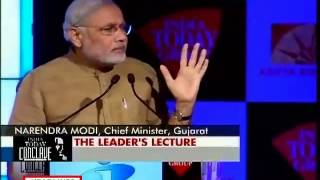 Modi Shares His NaMo Mantra At India Today Conclave 2013. Will It Work For India?