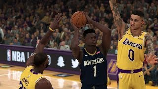 NBA 2K20 Gameplay - Los Angeles Lakers vs New Orleans Pelicans - NBA 2K20 PS4