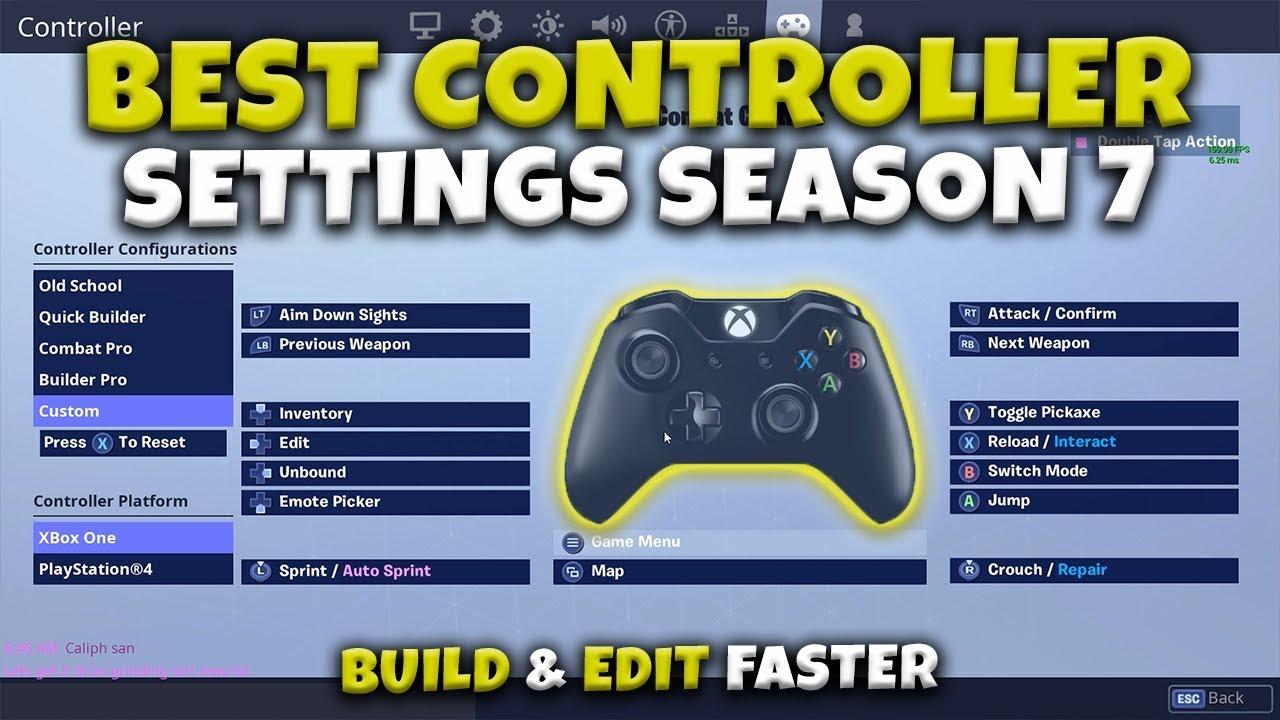 Fortnite Custom Controller Settings Build Fast Season 7 Youtube