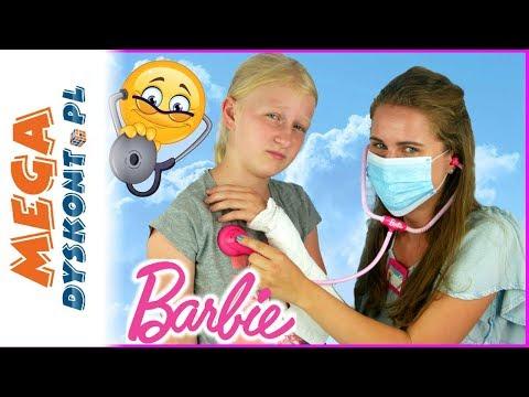 Barbie Doktor 👩⚕️ Eliza Ma Złamaną Rękę 🏥 Agata Doktor 👻