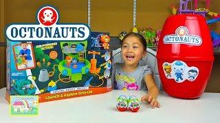 Huge Disney Junior Octonauts Surprise egg with Octo-Lab & Kinder Eggs! Octonauts Toys