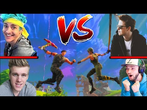 The YOUTUBER SHOWDOWN *IS HAPPENING* Feat. Ali-A, Ninja, Muselk, Lachlan & Many More In Fortnite