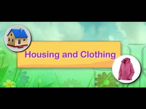 Housing and Clothing | Science For Kids | Grade 2 | Periwinkle
