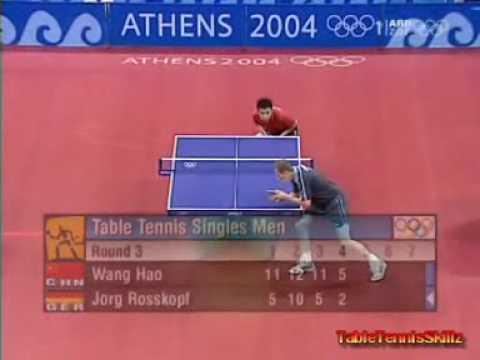 Jorg Rosskopf - Wang Hao Olympic Athen 2004