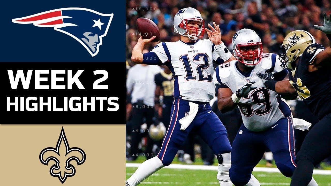 patriots vs saints nfl week 2 game highlights youtube