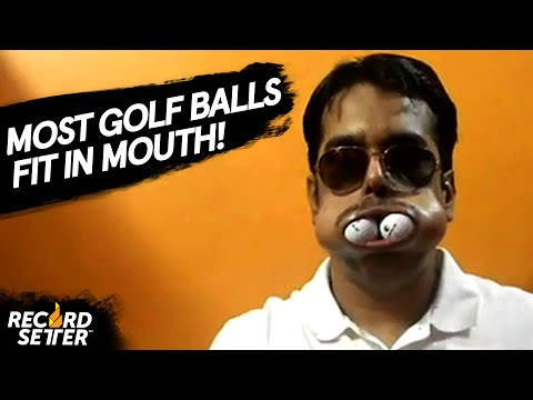 Most Golf Balls Fit In Mouth