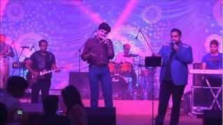 Shankar Mahadevan and Srinivasa Sarma(Tollywood singer) on a stage.wmv