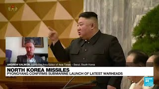 North Korea confirms submarine launch of new ballistic missile • FRANCE 24 English