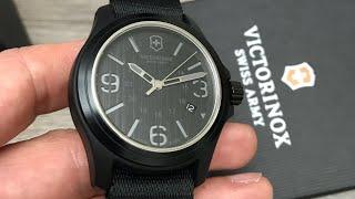 Victorinox Swiss Army Original Quartz Black Dial Black Nylon Men's Watch 241517 Review (Unboxing)