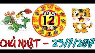 Tử Vi 2017   Tử Vi 12 Con Giáp 2017: Chủ Nhật - 23/7/2017   Xem Tử Vi Hàng Ngày thumbnail