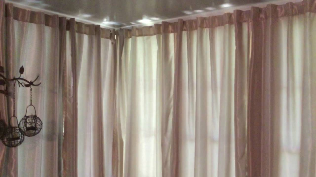 How to Hang Drapes in an Aluminum Sunroom. - YouTube