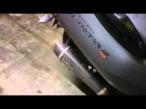 Peugeot Metropolis RS / LeoVince EVO II Level One Nero WARM
