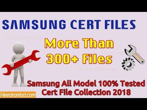 Samsung Cert File Collection 2018