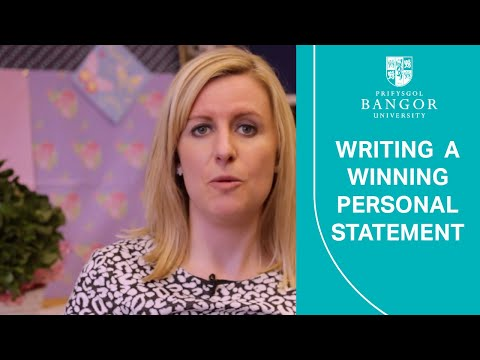 Do you have any tips on writing a personal statement for a university application?