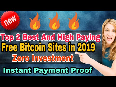 Top 2 Best Free Bitcoin Paying Sites 2019 ||High Paying Sites