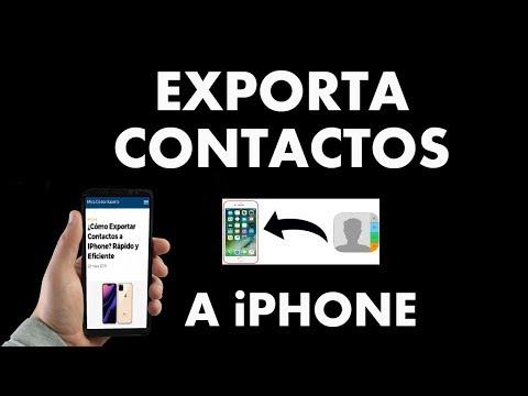 ¿Cómo Exportar Contactos a IPhone? Rápido y Fácil