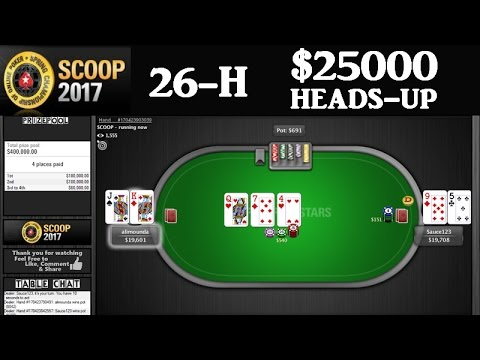 "[SCOOP 2017] Event 26-H $25000 Heads-Up - Ben ""Sauce123"" Sulsky VS alimounda (Cards up)"