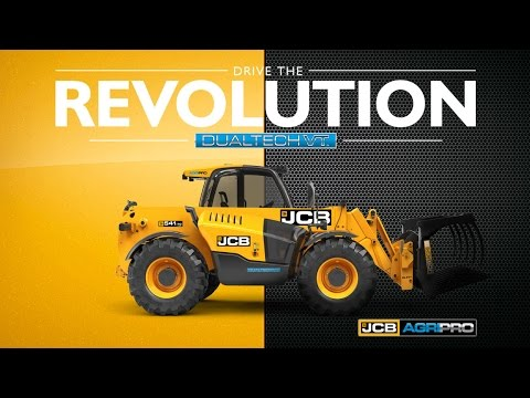 DRIVE THE REVOLUTION. The new JCB AGRI PRO Loadall with Dual Tech VT.