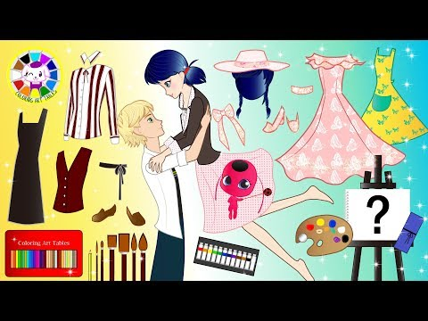 Paper Dolls Ladybug and Cat Noir pretend Play Costumes for School Supplies 1 Cartoons & Crafts