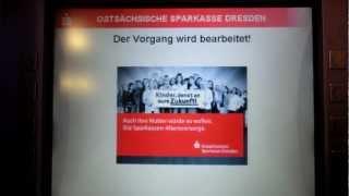 Geldabheben mit einer DKB- VisaKarte bei der Ostsächsischen Sparkasse