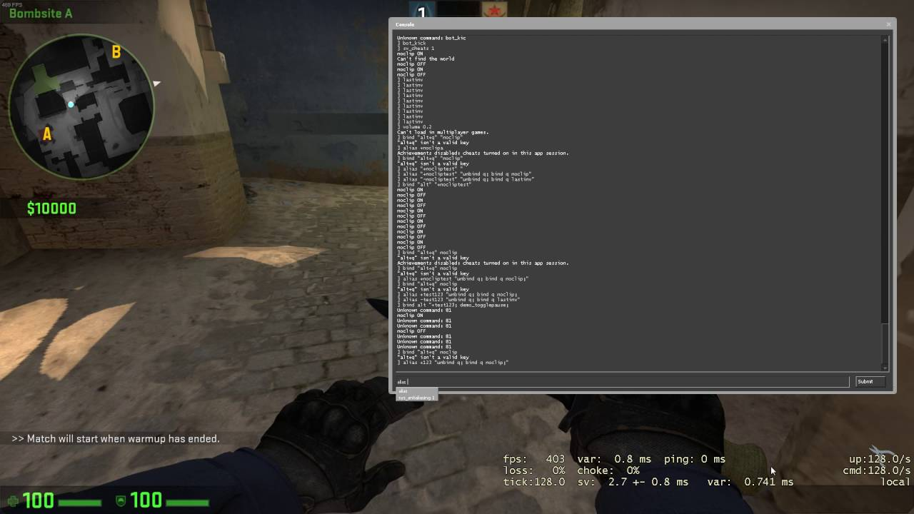 CSGO ET - How to bind keys combinations