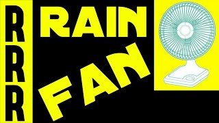 ⛅ FAN NOISE+ RAIN SOUNDS = 8 Hours of Relaxing Sleep & ASMR