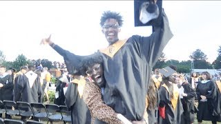 I SURPRISED CHARC JR  AT HIS HIGH SCHOOL GRADUATION !!! **EMOTIONAL**