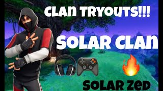 SOLAR CLAN TRYOUTS/HOSTING ZONEWARS #FORTNITE GIVEAWAY #PS4Live #CUSTOMS #IKONIK