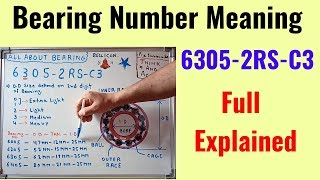 Bearing Number Meaning in Hindi || OD || Thickness Explained