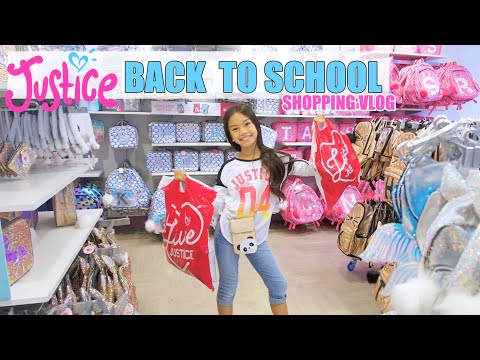 JUSTICE Back to School ✏️Shopping Vlog!