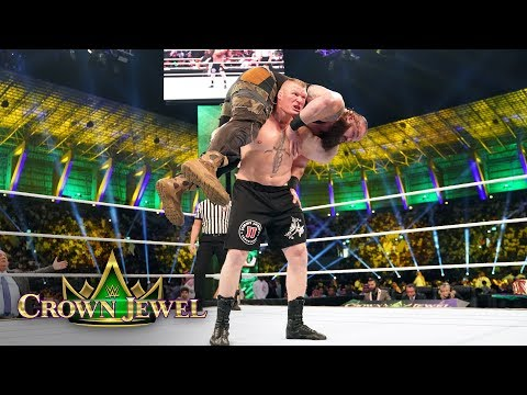Brock Lesnar decimates Braun Stroman with repeated F5s: WWE Crown Jewel 2018 (WWE Network Exclusive)