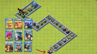 COC All Troops! Who Can Survive This Difficult Trap On COC? Trap VS Troops #coco9 |Chip GamePlays