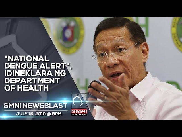 NATIONAL DENGUE ALERT, IDINEKLARA NG DEPARTMENT OF HEALTH
