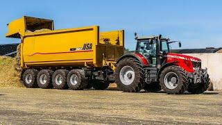 Mais 2019 - Vreba melkvee - Van Bakel Dairy - Claas Jaguar 970, MF 8737, CAT 966M - Maize silage