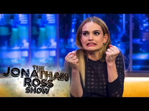 Lily James Stomps An Actors Head!  The Jonathan Ross