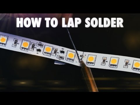 How to lap solder led strip lights youtube how to lap solder led strip lights aloadofball Images