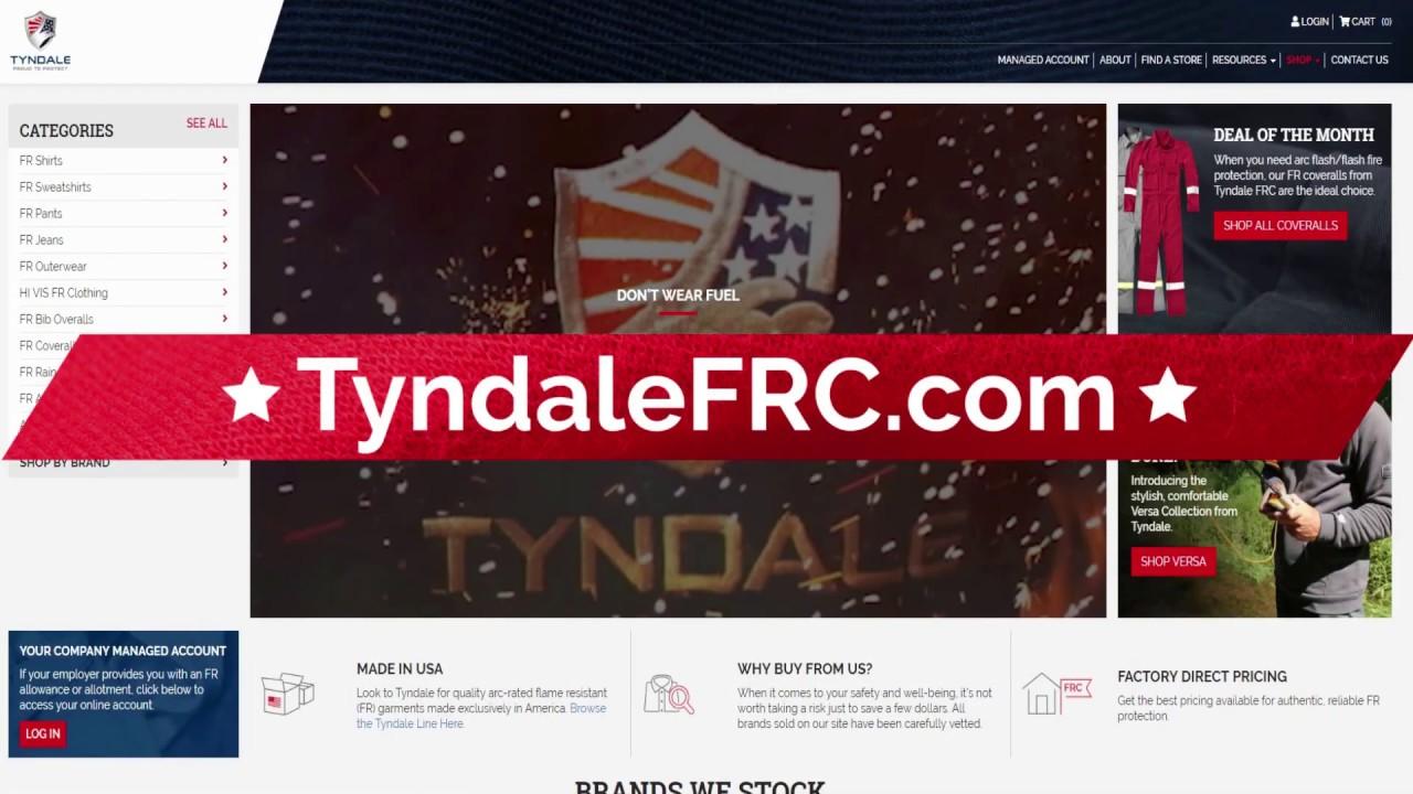 Retail Website FR Clothing - TyndaleFRC com