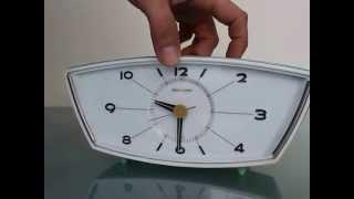 Seiko Seikosha Japan Vintage Alarm Top Clock Collectors Item Mantel Shelf 1950s