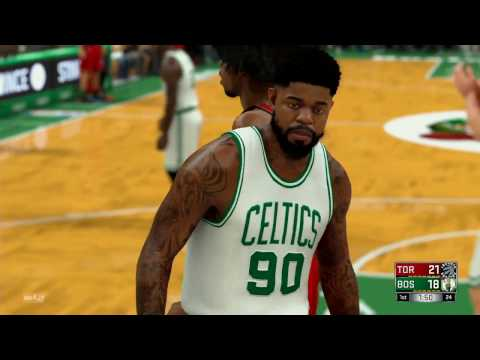 NBA 2K17 (PS4)- Toronto Raptors vs Boston Celtics - Full Game - Simulation Nation